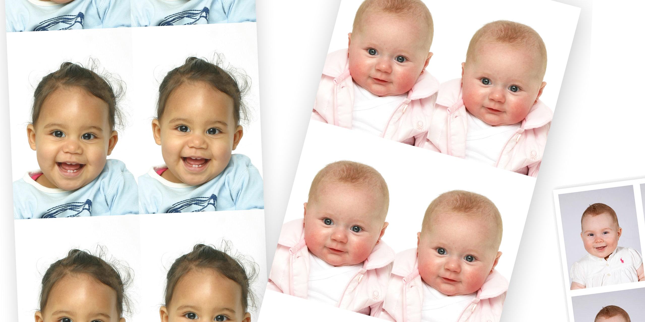 Pasfoto's voor baby's slechts €8,95