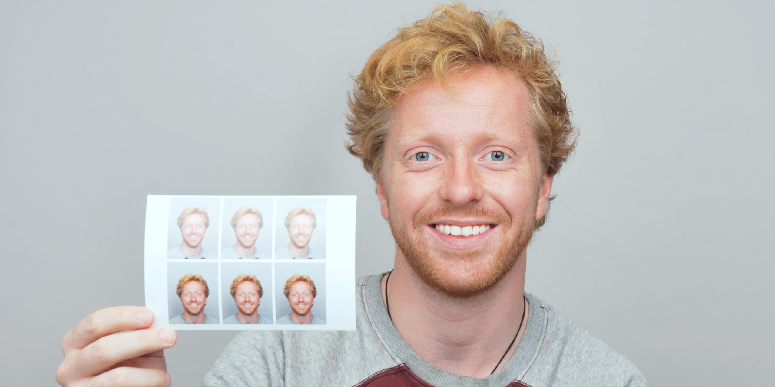Pasfoto voor een Lidmaatschap